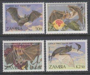 Zambia 466-469 Bats MNH VF