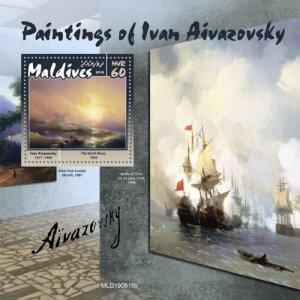 MALDIVES - 2019 - Ivan Aivazovsky Paintings - Perf Souv Sheet - MNH