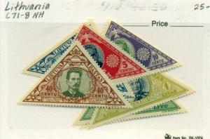 LITHUANIA #C71-8, Mint Never Hinged, Scott $25.00