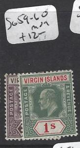 VIRGIN ISLANDS (P2105B)  KG 6D, 1/-  SG 59-60   MOG