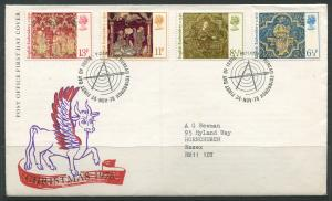 STAMP STATION PERTH:Great Britain - FDC Embroidery 1976 CV$?