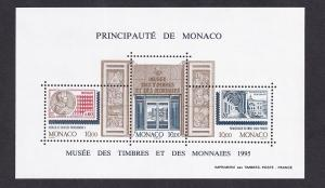 Monaco   #1953   MNH   1995  sheet stamp and coin museum