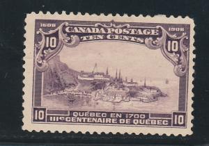 CANADA 1908 TERCENTENARY 10C