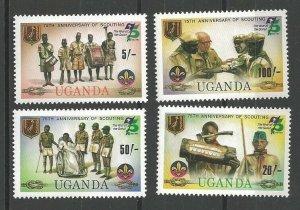 1982 Uganda Scouts 75th anniversary