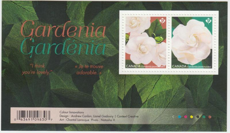 Canada - *NEW* Gardenia Souvenir Sheet (Flowers) - MNH
