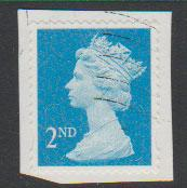 GB QE II Machin SG U2963 - 2nd brt blue -  M12L - Source  T