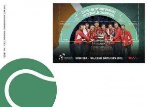CROATIA/2019, (FDC) WINNER OF THE 2018 DAVIS CUP (Tennis, Sport), MNH