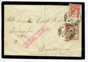 Mourning Cover Spain-Argentina 1937 Censored Sc#647