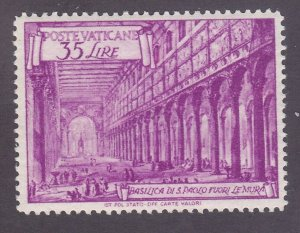 Vatican City 129a MNH OG 1949 35L St. Paul Issue Perf 13½x14 Very Fine