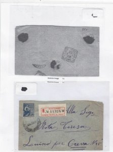 uruguay early stamps cover Ref 9684