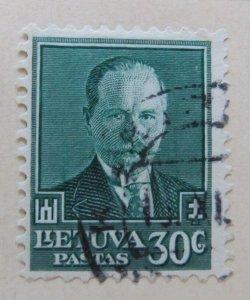 A11P5F72 Litauen Lituanie Lithuania 1934 30c used