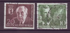 J20692 Jlstamps 1954 berlin germany sets of 1 used #9n104-5 famous people