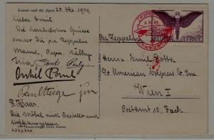 Switzerland Zeppelin card 2.11.29
