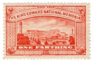(I.B) Cinderella Collection : King Edward National Memorial Fund ¼d