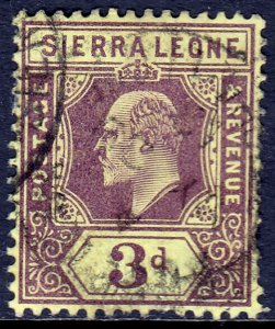 Sierra Leone - Scott #95 - Used - A couple short perfs at right - SCV $3.25