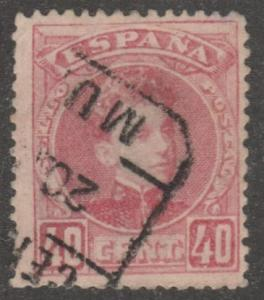 Spain stamp, used, Scott# 282, orange, 40 cent, #M421
