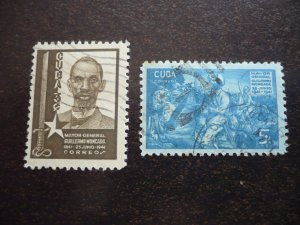 Stamps - Cuba - Scott# 366-367 - Used Set of 2 Stamps