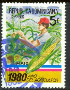 DOMINICAN REPUBLIC 1980 5c CORN Agriculture Year Issue Sc 829 VFU