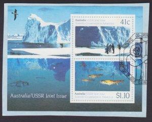 AUSTRALIA - 1990 ANTARCTICA SCIENTIFIC CO-OPERATION MINISHEET FINE MINT