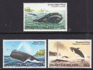 Norfolk Island 290-292 Whales MNH VF