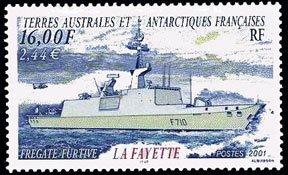 Scott #286 Frigate La Fayette MNH