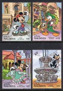 Maldive Islands 1678-1681 Disney's MNH VF