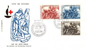 Vatican City, Worldwide First Day Cover, Red Cross
