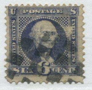 United States 1869 6 cents Washington used