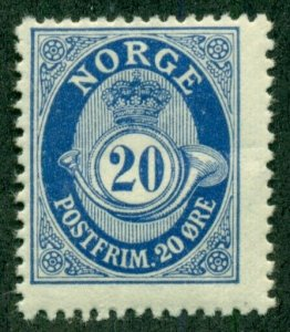 NORWAY #85, Mint Never Hinged, Scott $23.80