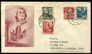 GERMAN OCCUPATION Wurttemberg Postage Friedrich von Schiller Commemorative Cover