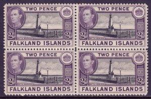 Falkland Islands - Scott #86 - Block/4 - MNH - See description - SCV $7.50