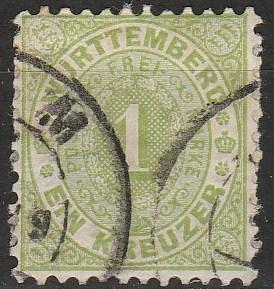 Wurttemberg #54 F-VF Used  CV $40.00 (A17819)