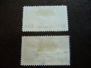 Stamps - Cuba -Scott# C120-C121 - Used Set of 2 Air Mail Stamps