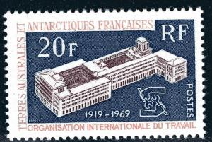FSAT Antarctic ILO issue (Scott #35) VF MNH Cat $18.50...Premier!