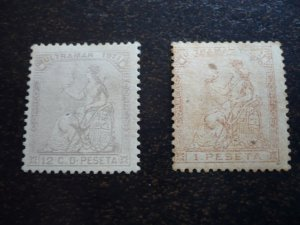 Stamps - Cuba - Scott# 50,53 - MH - Partial set of 2 stamps
