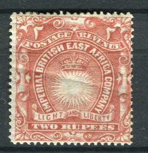 BRITISH EAST AFRICA; 1890 classic Company issue fine Mint hinged 2R. value
