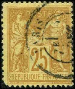 France SC# 99 Peace & Commerce 25c  Used SCV $5.00