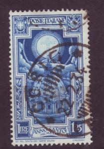 J3603 JLstamp 1933 italy used #313 cross