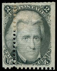 momen: US Stamps #93 Var. Mint OG Error Misperfed
