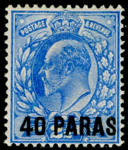 BRITISH LEVANT SG8, 40pa on 2½d ultramarine, M MINT. Cat £24.