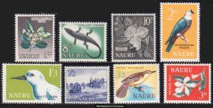 Nauru Scott 49-56 Mint never hinged.