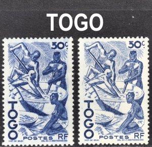 Togo Scott 310 COLOR ERROR F to VF mint OG HHR.