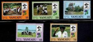 VANUATU Scott 337-341 MNH** Scout stamp set