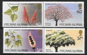 PITCAIRN ISLANDS SG304/7 1987 TREES MNH