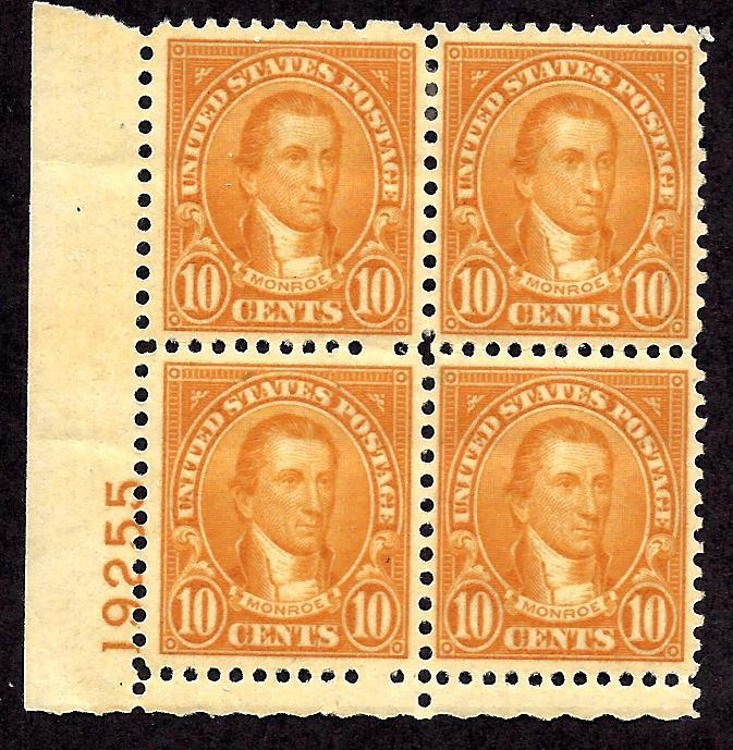 642 Mint,OG,H... Plate Block of 4... SCV $17.00