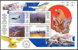 Dominica 1998 Aviation Airplanes Royal air Force sheet MNH