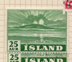 Iceland 1948 Hekla Early Issue Fine Mint Hinged 25aur. 249231