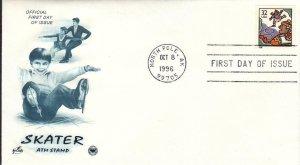 1996, Skater-ATM Stamp, Artcraft/PCS, FDC (E8987)