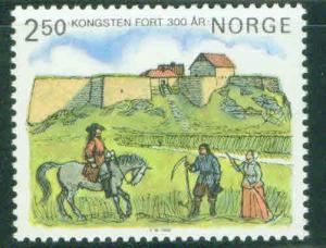 Norway Scott 860 MNH** 1985 Kongsten Fort stamp