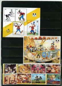 GAMBIA 1992 DISNEY GOOFY 60th ANNIVERSARY SET OF 8 STAMPS & 2 S/S MNH